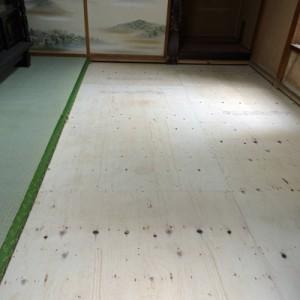 茨城県守谷市 畳下 床板貼替え005
