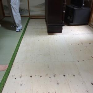茨城県守谷市 畳下 床板貼替え006