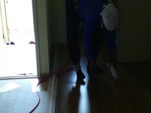 茨城県取手市 床フロア貼り増し工事02